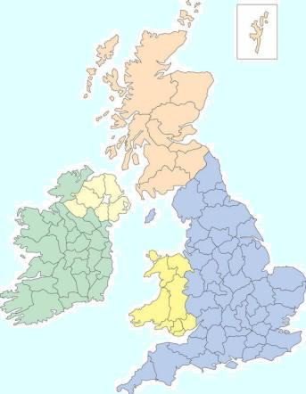 uk campsites map